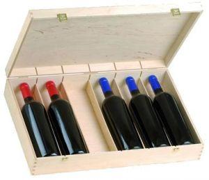 Cassetta Legno Vuota Per 6 Bottiglie