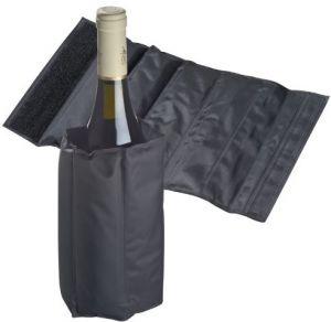 Fascia Refrigerante Nera Regolabile Porta Bottiglia