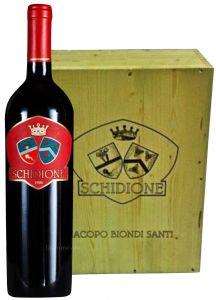 Cassa Legno 6Bt. Schidione Castello di Montepò 2001 Jacopo Biondi Santi
