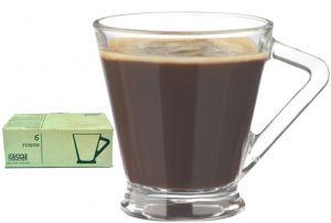 6 Bicchieri Caffè Vetro Temperato Fusion Rastal