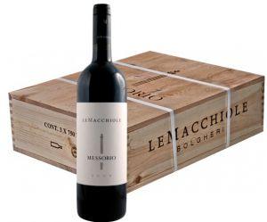 Cassa Legno 3 Bt. Messorio Toscana Igt 2008 Le Macchiole