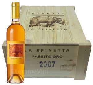 Cassa Legno 6 Bt. Moscato Piemonte Passito Oro Doc  2007 La Spinetta Rivetti