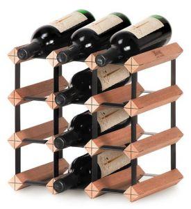 Scaffale Modulare in Legno Per 12 Bottiglie