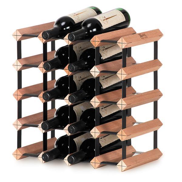 Scaffale Modulare in Legno Per 20 Bottiglie