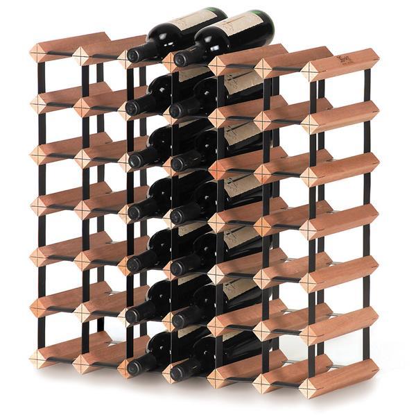 Scaffale Modulare in Legno Per 42 Bottiglie