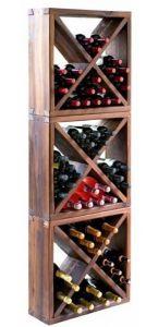 Scaffale In Abete Larice Anticato Per 144 Bottiglie
