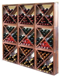 Scaffale In Abete Larice Anticato Per 430 Bottiglie