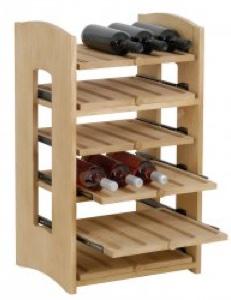 Cantinetta in Pino Massello 6 Ripiani per 30 Bottiglie