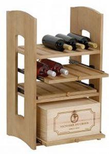 Cantinetta Quadrotta in Pino Massello per 21 Bottiglie