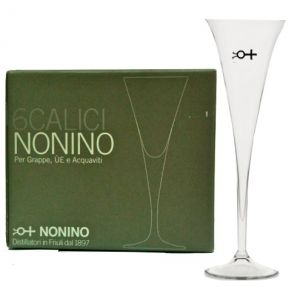 6 Bicchieri Calice Degustazione Grappa Nonino