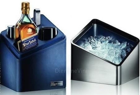 The blue cube porta ghiaccio bicchieri bottiglia johnnie - Porta bicchieri birra ...