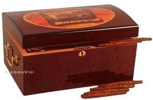 Cassetta Porta Sigari Cigar Humidor in Cedro Spagnolo Lucido e Intarsio