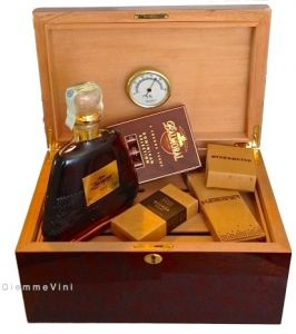 Porta Sigari Cigar Humidor in Cedro Spagnolo con Sigari e Rum XO 25y Zacapa