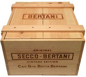 Cassa Legno Vuota Usata Originale Vintage Edition Bertani
