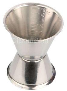 Misurino Jigger Doppia Dose 50 e 30 ml in Acciaio Inox 18/10