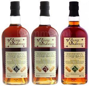 Tris Rum Riserva Imperiale 18-21-25 anni Malecon