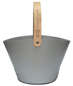 Secchiello Ghiaccio 100% Alluminio con Manico Cuoio Contadi Castaldi
