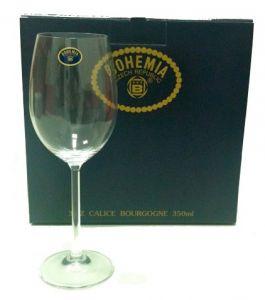 6 Bicchieri Calice Vino Rosso Bourgogne Bohemia Republica Ceca
