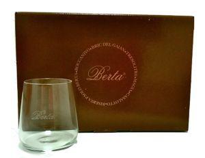 6 Bicchieri Riserva Degustazione Grappa Berta Distillerie