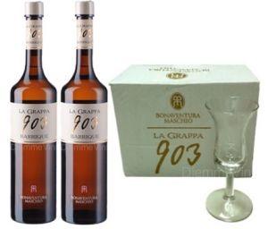 2 Bt. Grappa 903 + Bicchieri Bonaventura Maschio