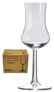 6 Bicchiere Calice Grappa Taro Rastal