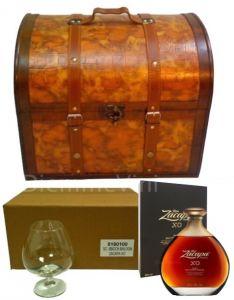 Confezione Baule Con Zacapa Centenario XO e 6 Bicchieri Degustazione Zacapa