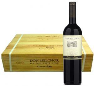 Cassa Legno 6Bt. Don Melchor Cabernet Sauvignon 2015 Concha y Toro
