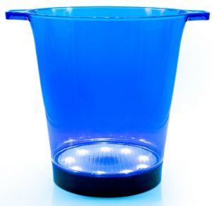 Secchiello Luminoso Portaghiaccio Led Blu