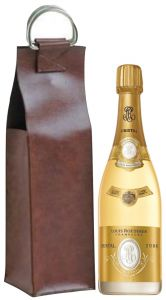 Borsa Pelle Tosca Con 1 Bt. Champagne Cristal 2008 Louis Roederer
