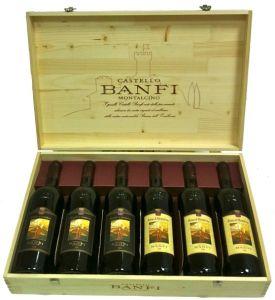 Cassetta Legno 3+3 Brunello e Rosso di Montalcino Castello Banfi