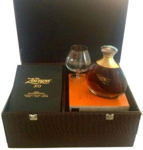 Confezione Baule con Rum XO Centenario e 4 Bicchieri per Degustazione Zacapa