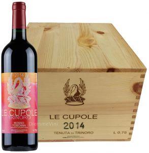 Cassa Legno 6 Bt. Le Cupole Rosso Toscana Igt 2014 Tenuta di Trinoro