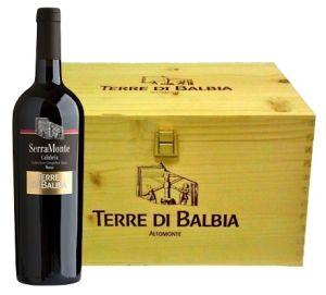 Cassa Legno 6 Bt. SerraMonte Rosso Calabria Igt 2007 Terre di Balbia