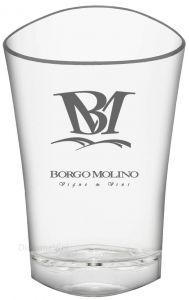 Secchiello Ghiaccio Acrilico Ice Bucket Shape Trasparente Borgo Molino