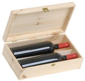 Cassetta Legno Vuota Porta 2 Bottiglie