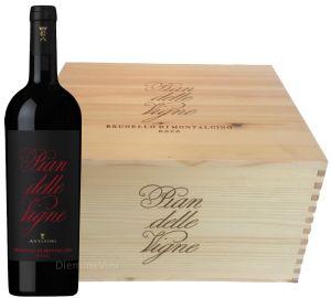 Cassa Legno 6 Bt. Brunello Docg 2012  Pian delle Vigne