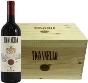 Cassa Legno 6 Bottiglie Tignanello Toscana Igt 2015 Tenuta Tignanello