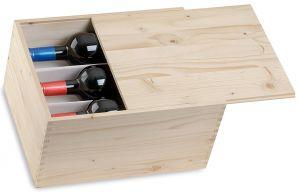 Cassetta Quadrotta Vuota Per 6 Bottiglie Vino