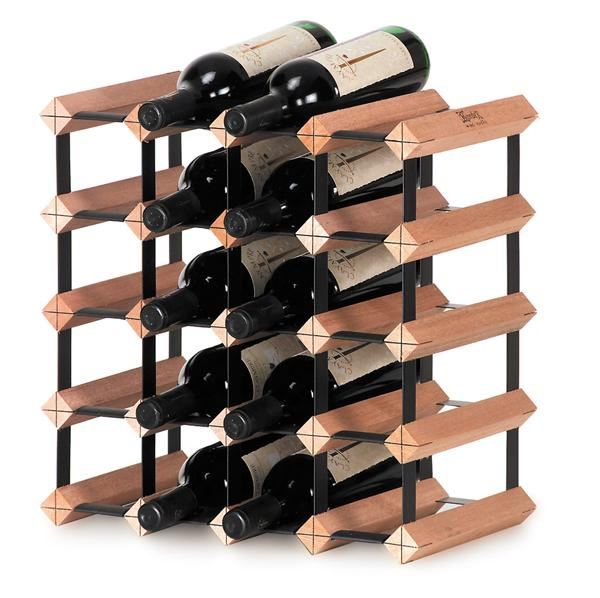 scaffale legno 20 bottiglie modulare