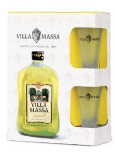 Confezione Limoncello e 2 Bicchieri Degustazione Villa Massa