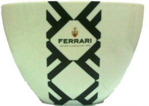 Secchiello in Acrilico Ovale Bongo Bucket Bianco Ferrari
