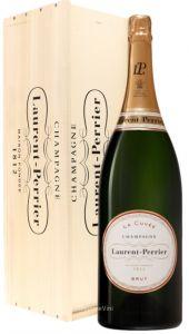 Cassa Legno Jeroboam 3 Lt. Champagne La Cuvée  Brut Laurent Perrier