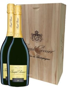 Cassetta Legno 2 Bt. Champagne Cuvée Royale Joseph Perrier