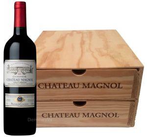 Cassa Legno Con Cassetti  6 Bt. Chateau Magnol Cru Aoc 2015 Bourgeois Barton & Guestier