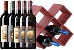 Cantinetta Finta Pelle con 5 Bottiglie Castello Banfi