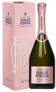 Champagne Rosé Réserve con Astuccio Charles Heidsieck