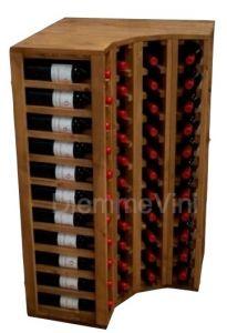 Cantinetta ad Angolo Color Rovere Chiaro max 44 Bottiglie