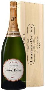 Magnum 1,5 in Cassa Legno Champagne La Cuvée Brut Laurent Perrier