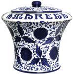 Vaso Ceramica Nuovo Vuoto da 3 kg. Completo di Mestolo Fabbri