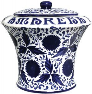 Vaso Ceramica Vuoto da 3 kg. Completo di Mestolo Fabbri